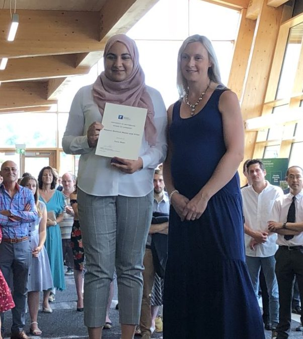 Zoya is awarded the Masson Gulland Medal and Prize!
